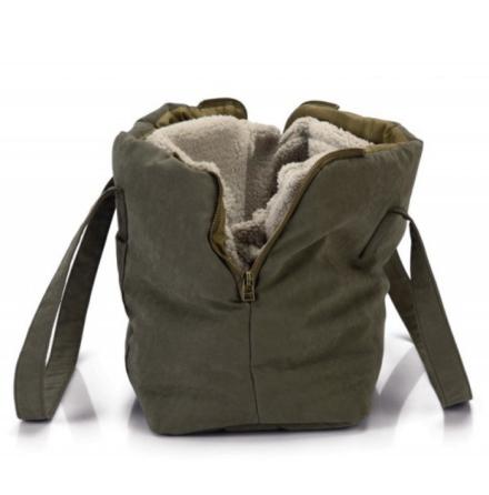All Seasons Carrying Bag w Cosy Detachable Lining - Khaki/Green 40x20x28cm