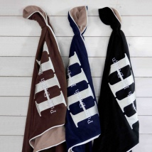 Fleece Blanket w Dog Print - Black/Beige 170x130cm