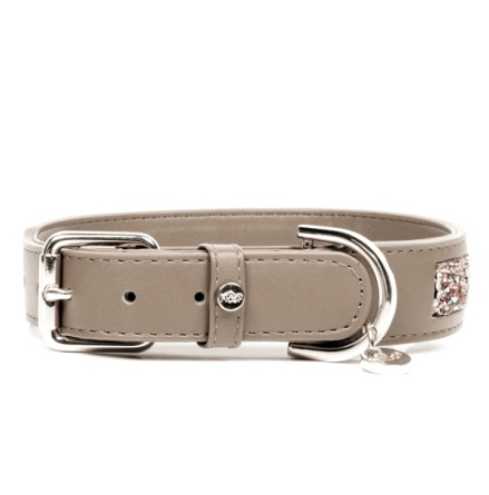 Quarts Vegan leather Collar - Taupe