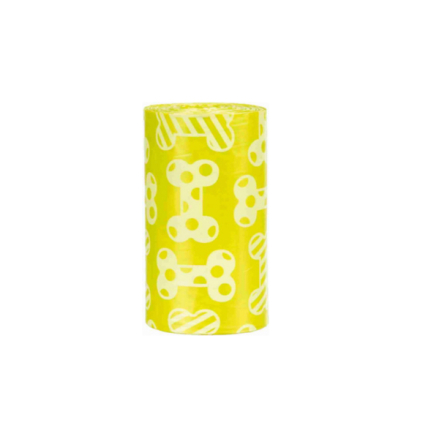 Poobags w Lemon Scent 4 Rolls with 20pcs - Yellow