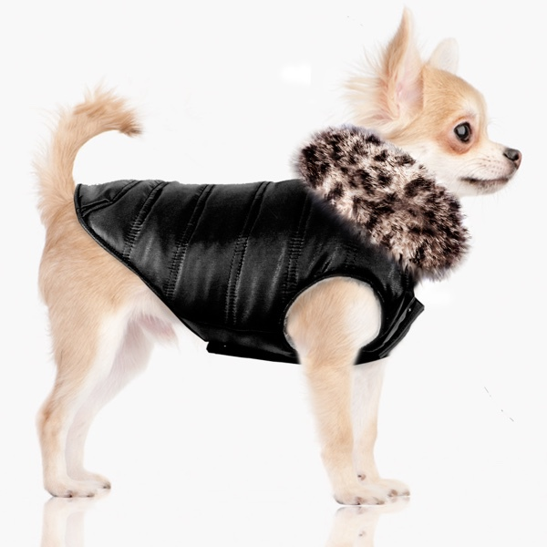 Coat Serengeti with Fur Collar and Cosy fleece Inside - Black