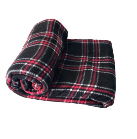 Blanket Checked Patern - Black/Red