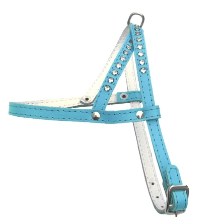 Leather Harness - Baby blue
