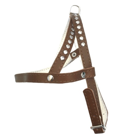 Leather Harness - Brown/White