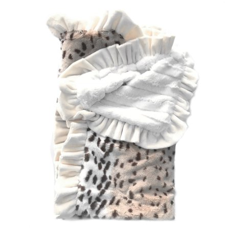 Lux Cuddle Blanket - Ice Leopard