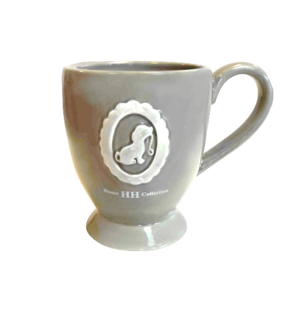 Porcelain Mug Taupe 8,5x10cm