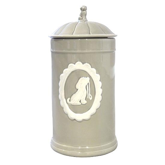 Food/Snack Jar Porcelain Taupe 11,5x21x5cm