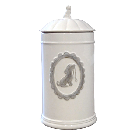 Food/Snack Jar Porcelain White 11,5x21x5cm