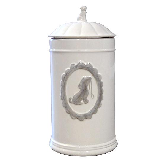 Food/Snack Jar Porcelain White 11,5x21x5cm