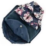 Rainproof Coat w Detachable Pile Lining - Flowers