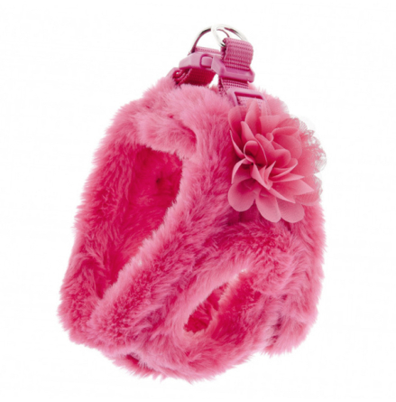 Fluffy Harness - Pink/Fuchsia