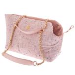 Harper Tweed Pet Bag with Mini Purse - Pink 38x28x20cm