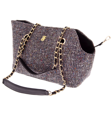 Harper Tweed Pet Bag with Mini Purse - Black 38x28x20cm