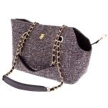 Harper Tweed Pet Bag with Mini Purse - Black 38x28x20cm