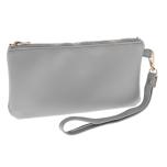 Harper Fur Pet Bag with Mini Purse - Grey 38x28x20cm
