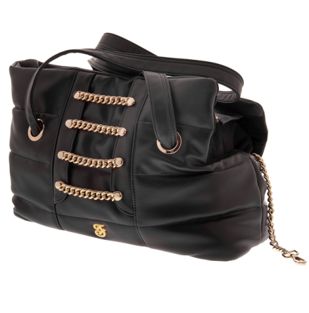 Golden Chains Pet Bag - Black/Gold 47,5x33x20cm