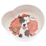 2 Plastic Bowls Aquarel Dogs - Beige 2x450ml Hight:4cm