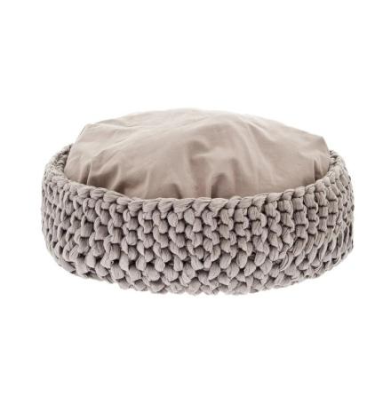 Round Braided Basket - Beige 50cm