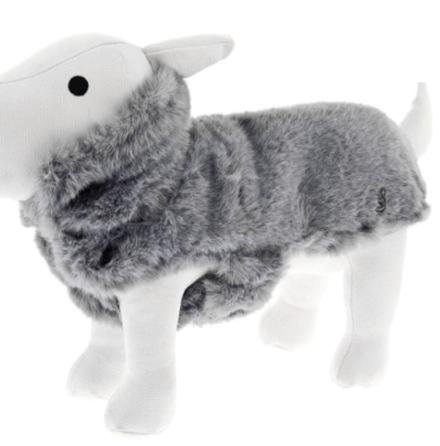 Fluffy Fur Coat - Grey