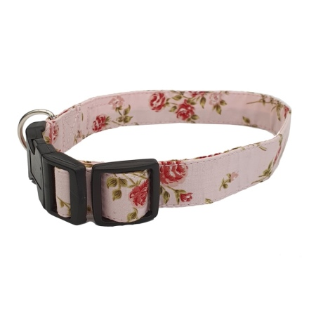 Adjust. Collar Pink Flower