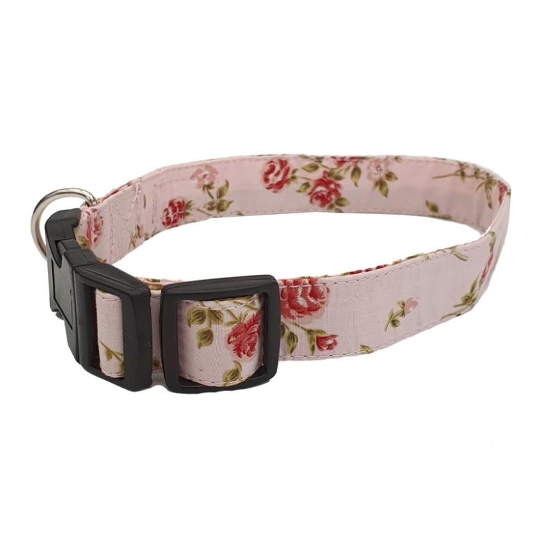 Adjust. Collar Pink Flower
