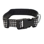 Adjust. Leather Collar Dogtooth
