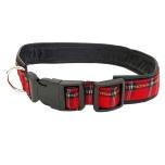 Leather Collar Scottish Red