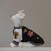 Dog racing coat Black