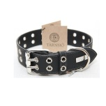 ROCK Leather Collar - Black