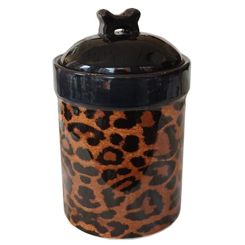 Food/Snack Porcelain Jar - Leopard H:21cm
