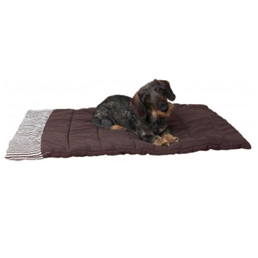 Padded Blanket Comfy Dog - Brown 100x70cm