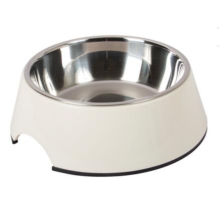 Straight Dog Bowl Melamin - White