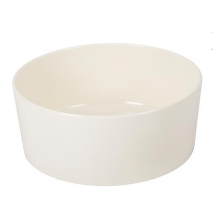 Single Round Dog Bowl Melamin - White
