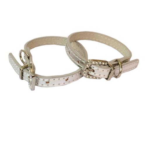 Shiny Charm Collar - Silver